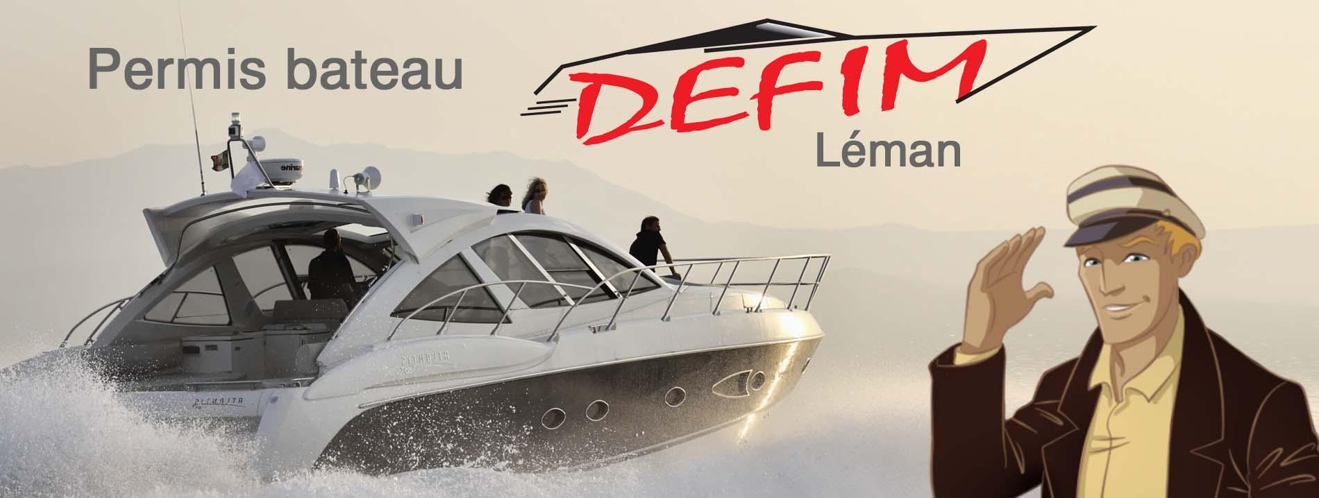 Permis bateau Léman Evian Genève Thonon Annecy par DEFIM